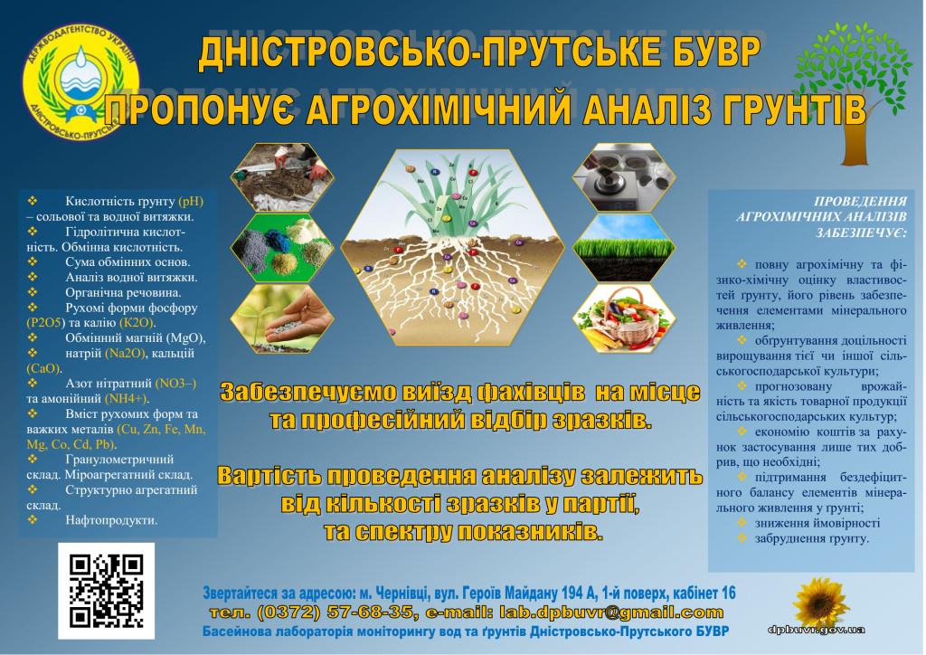 Послуги агрохімічного аналізу