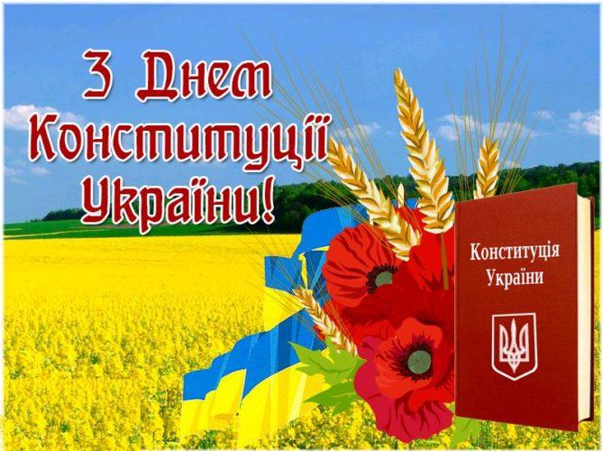 Щиро вітаємо з Днем Конституції України!