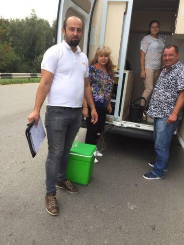 Участь в спільному з румунськими фахівцями відборі проб води з річок Прут та Сірет